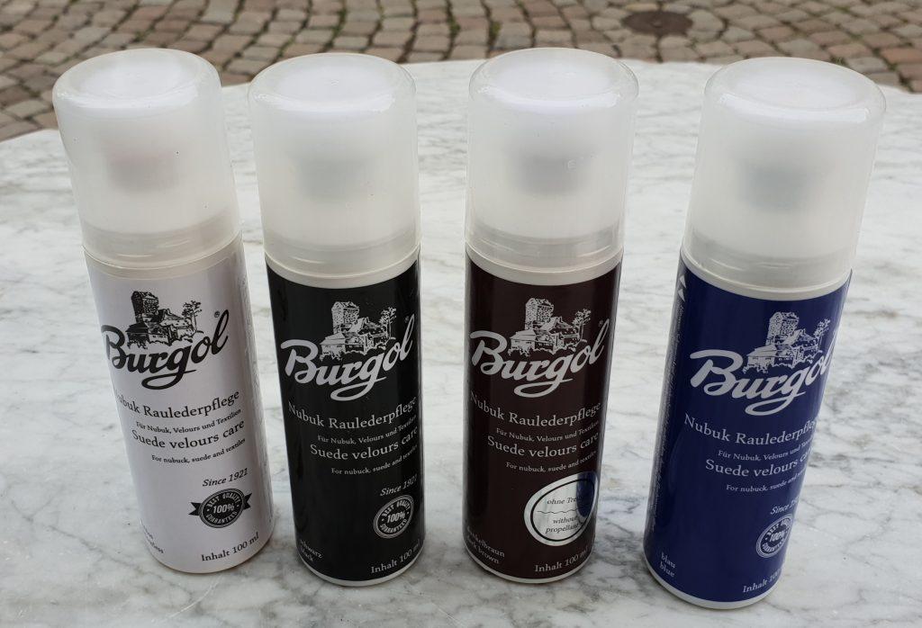 Nubuk Raulederpflege erhältlich in 8 verschiedenen Farben