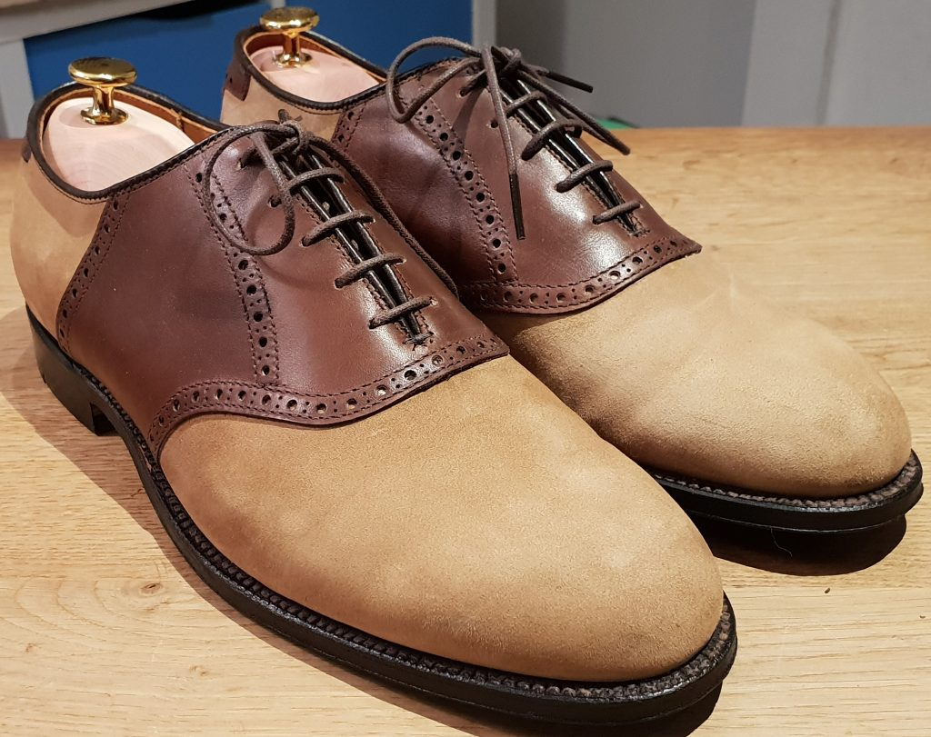 Herrenschuhe: Alden, Saddle Shoes, 9/43 - RARITÄT